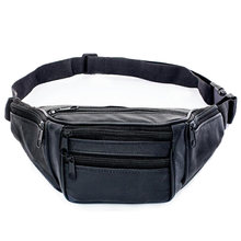 Genuine Leather Waist Packs Man Belt Bag Male Fanny Pack Shoulder Crossbody Travel Bag Soft Cell Phone Pocket(China)