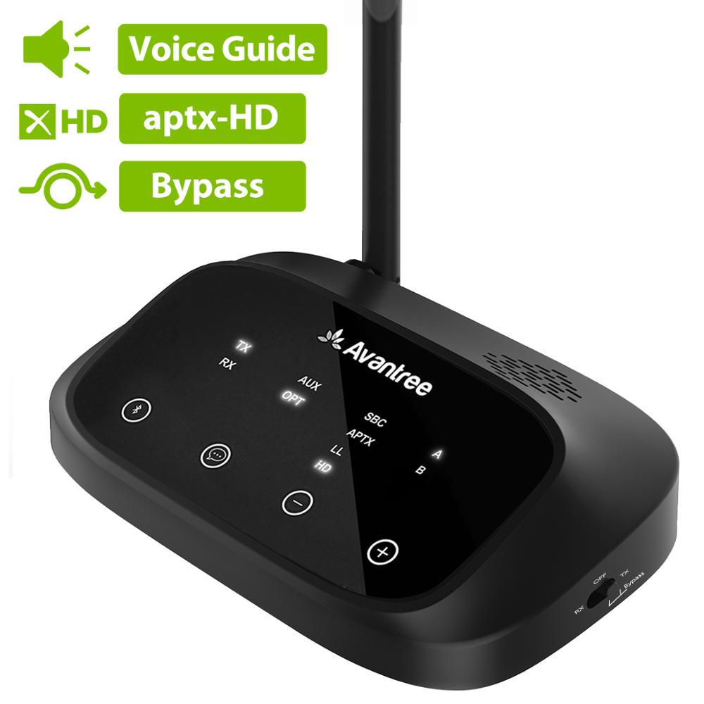 Avantree AptX HD LONG RANGE Bluetooth Transmitter For TV Audio, Wireless Transmitter And Receiver, Bypass And Bluetooth Work