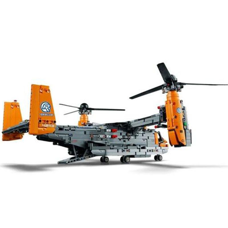Static Version New 1725Pcs aircraft  Bell-Boeing V-22 Osprey Building Blocks