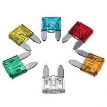 Caja de fusibles de tamaño pequeño para coche, juego de surtido de fusibles de tamaño pequeño, 60 unids/lote, DG 5, 10, 15, 20, 25 y 30A