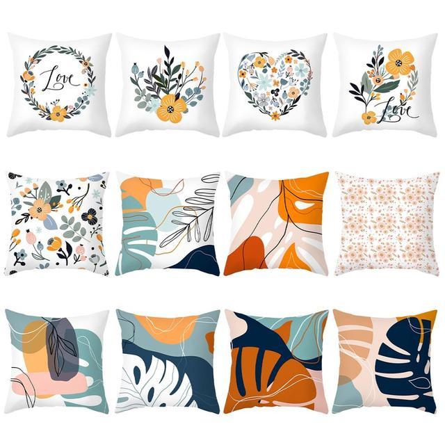 Современный стиль подушки для дивана декоративные желтый лист