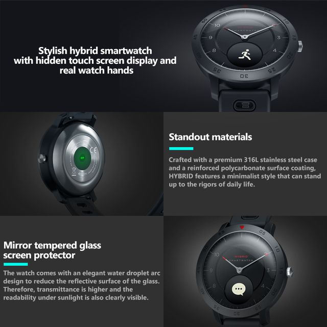 NEW Zeblaze Hybrid Smartwatch Heart Rate Blood Pressure Monitor Smart Watch Exercise Tracking Sleep Tracking Smart Notifications 1