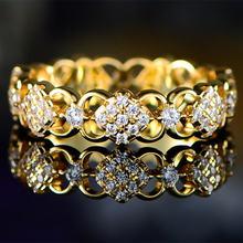Ustar роскошные открытые кольца с резным цветком для женщин