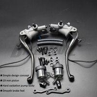 Motorcycle Universal 19 RCS CNC Brake Pump Clutch cable Lever Radial Main cylinder Pump Tank For Honda Yamaha Kawasaki Suzuki