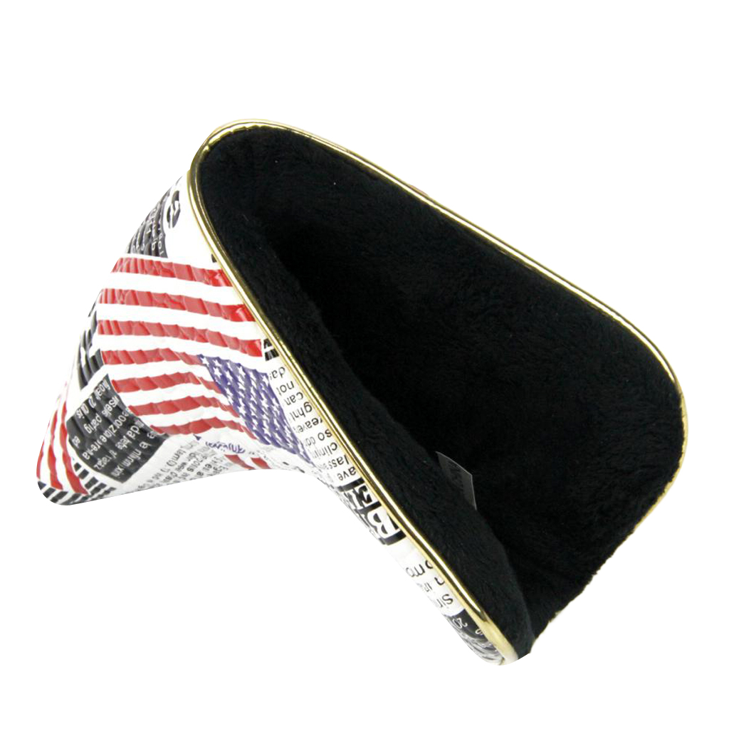 Durable Golf Stars Stripes Magnetic Closure Golf Putter Covers For Blade Putters Golfer Gift