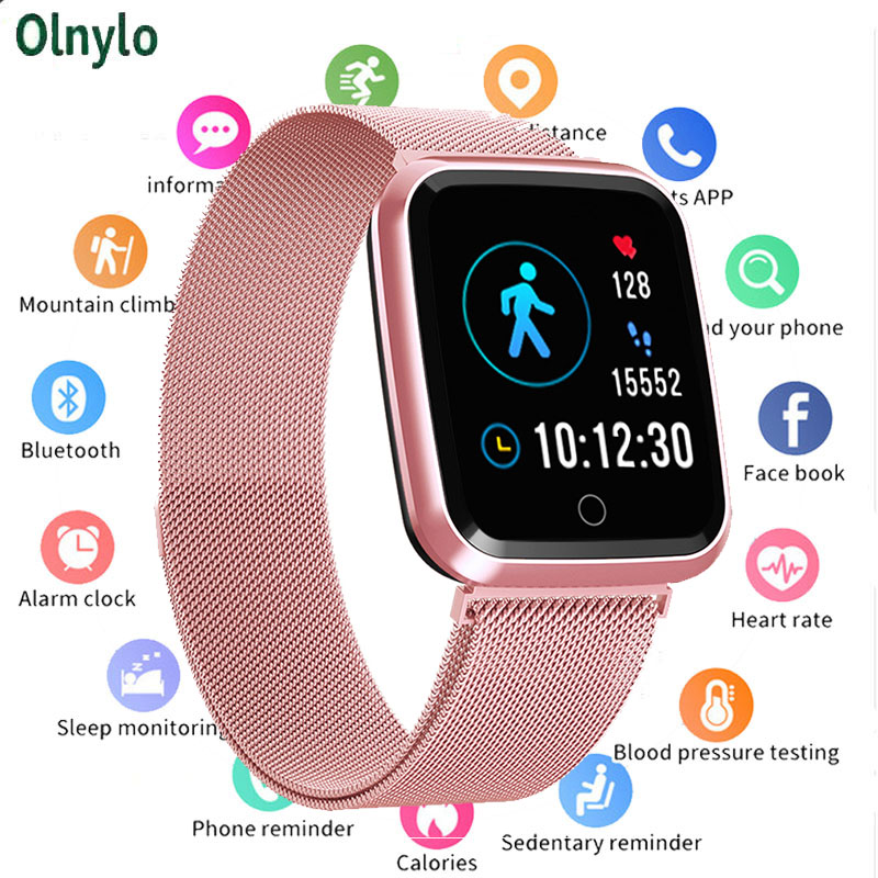 N99 Sport IP68 <font><b>Smart</b></font> Uhr Frauen Männer Fitness Tracker Heart Rate Monitor Wasserdichte Smartwatch für Android IOS apple reloj <font><b>mujer</b></font> image