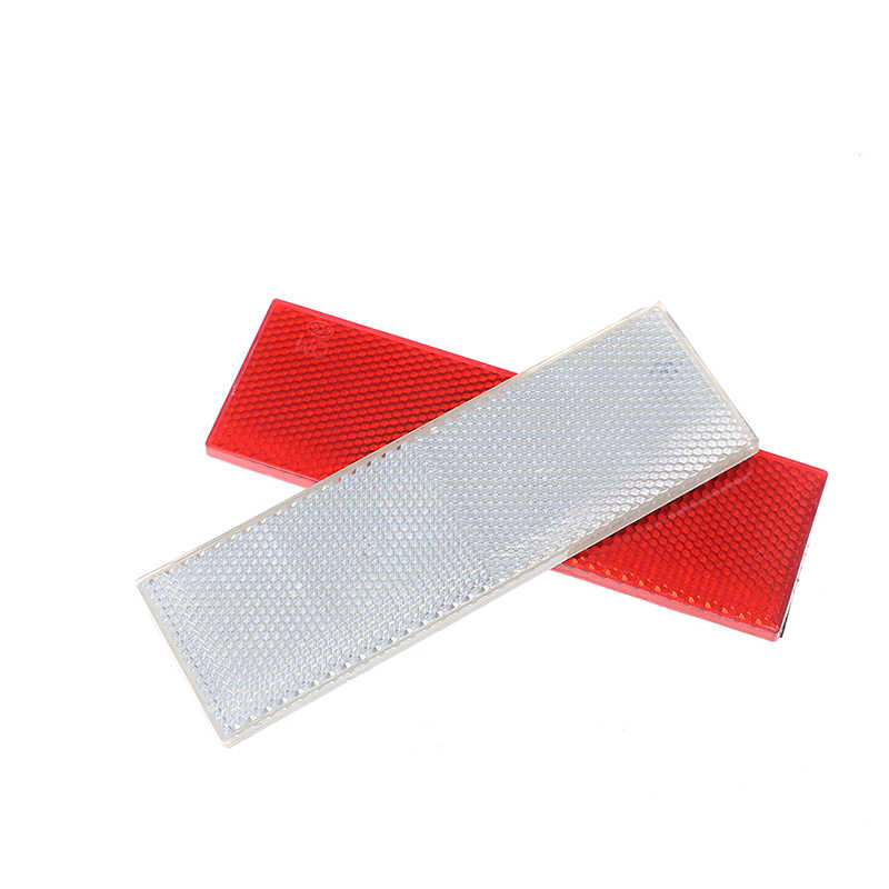 1 Uds 14,5*4,5 cm carro rojo blanco advertencia reflectante placa de seguridad/cinta calcomanías reflectantes