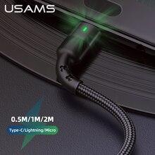 Usams tipo c cabo 2a carga rápida usb c cabo para xiaomi samsung lg tablet android telefone móvel usb tipo c cabo de dados de carregamento