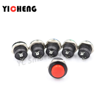 1pcs  Momentary SPST NO  Round Cap Push Button Switch AC 6A/125V 3A/250V 6color R13-507 momentary push button