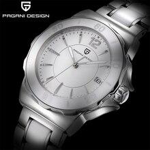 PAGANI DESIGN Frauen Quarzuhr Mode High End Keramik Lünette Uhr Automatische Datum Wasserdicht Leucht Weiß Frauen Armbanduhr