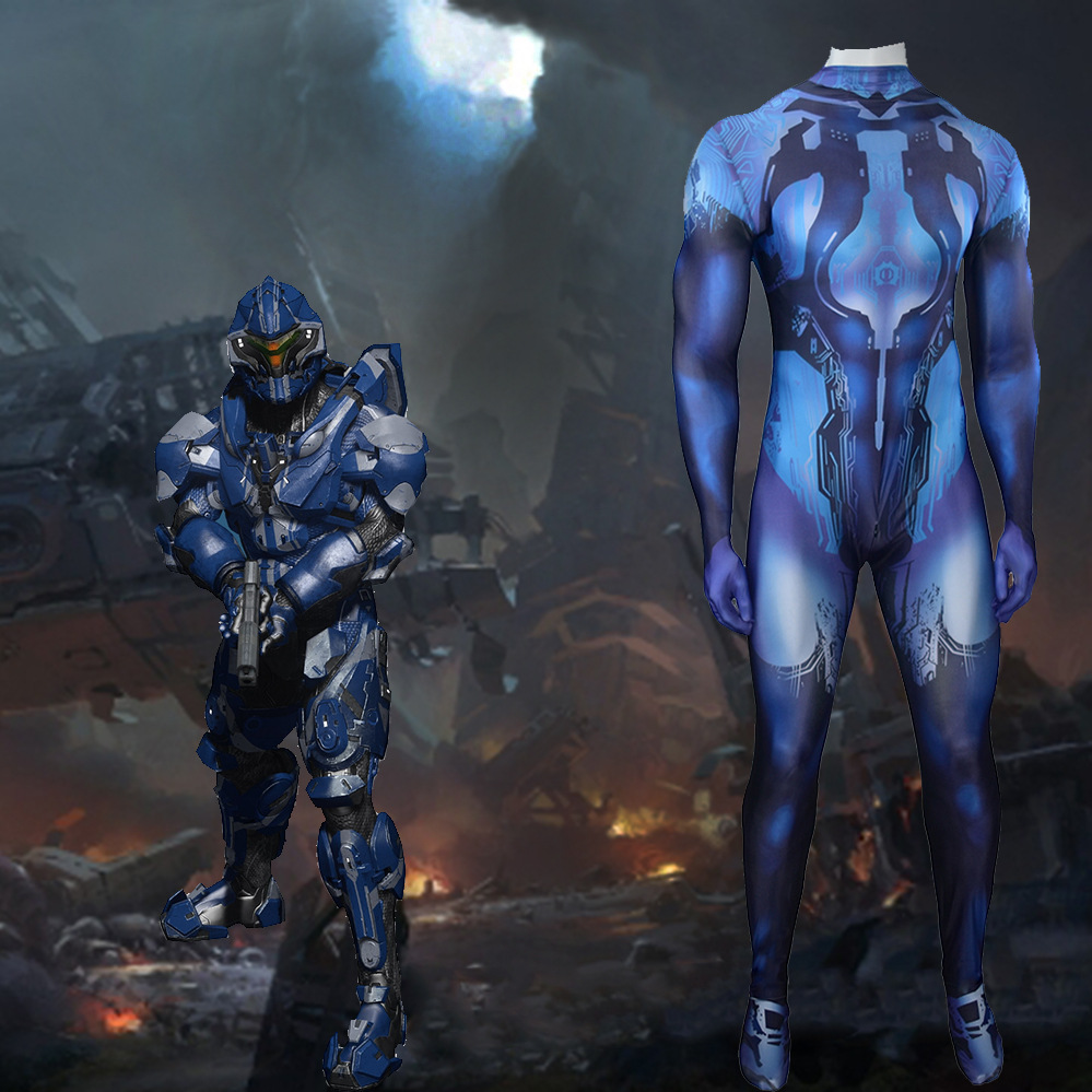 Halo Game Cosplay Costume Lycra Tight Jumpsuit Adult Child Masquerade Performance High Quality Clothing image