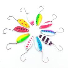 6 Pcs Fishing Spoon Spinner Koeder Metal Hook Hard Art Coating Colorful 6g