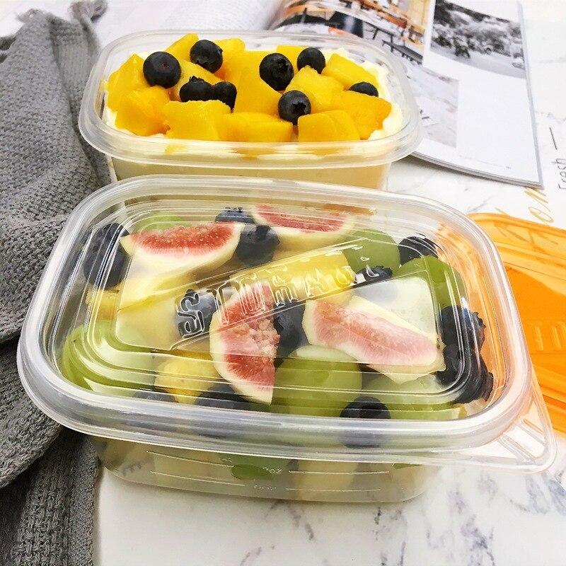 Transparent Storage Box Organizer Container Kit Plastic Food Box Healthy Diet Caloric Reusable Lunch Fruit Box Laundry Bead Box