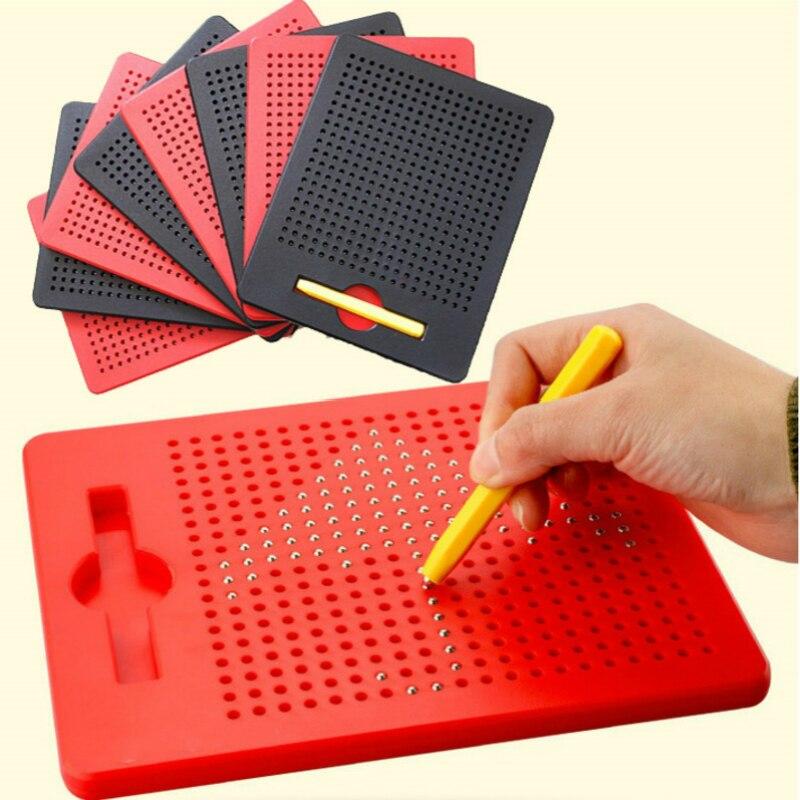 Доска для рисования с магнитным шариком, Детский обучающий эскизный планшет, развивающие игрушки для детей и взрослых, подарок для блокнота
