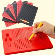 Bola magnética placa de desenho com caneta crianças aprendendo desenho esboço almofada tablet brinquedos educativos para crianças adulto notebook presente