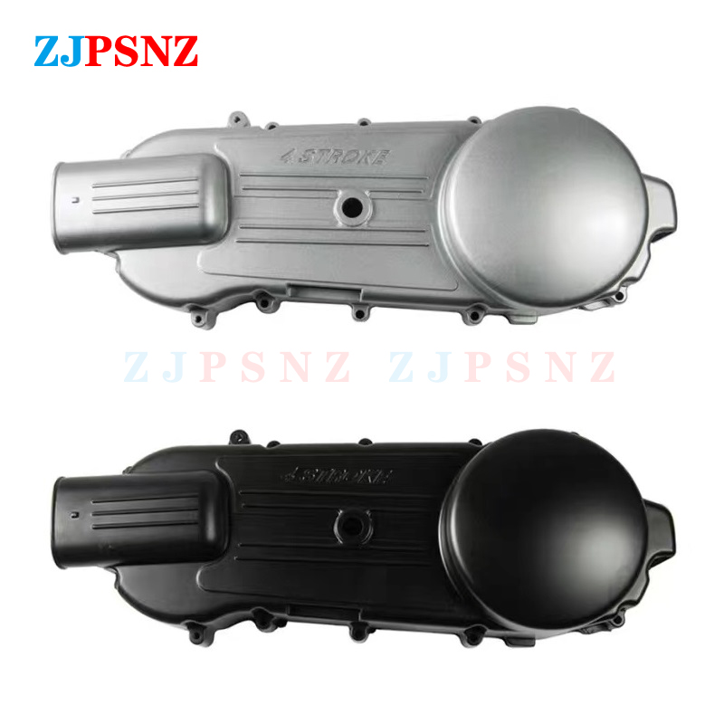 Motorcycle Long Case Left Side Crankcase CVT Belt Cover GY6 150cc 125cc Protect Engine ATV Go-Kart Scooter Moped CG150 Silver
