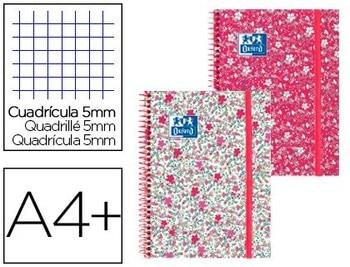 Спиральный блокнот OXFORD EBOOK 1 колпачок экстрадиция DIN A4 + 80 листов сетка 5 мм цветочный 5 единиц