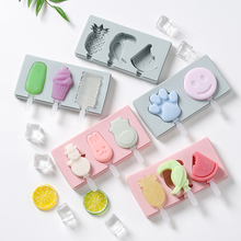Molds with Lids And Popsicle-Sticks Cute Food-Grade for Kids Frozen-Ice-Cream-Mold Homemade