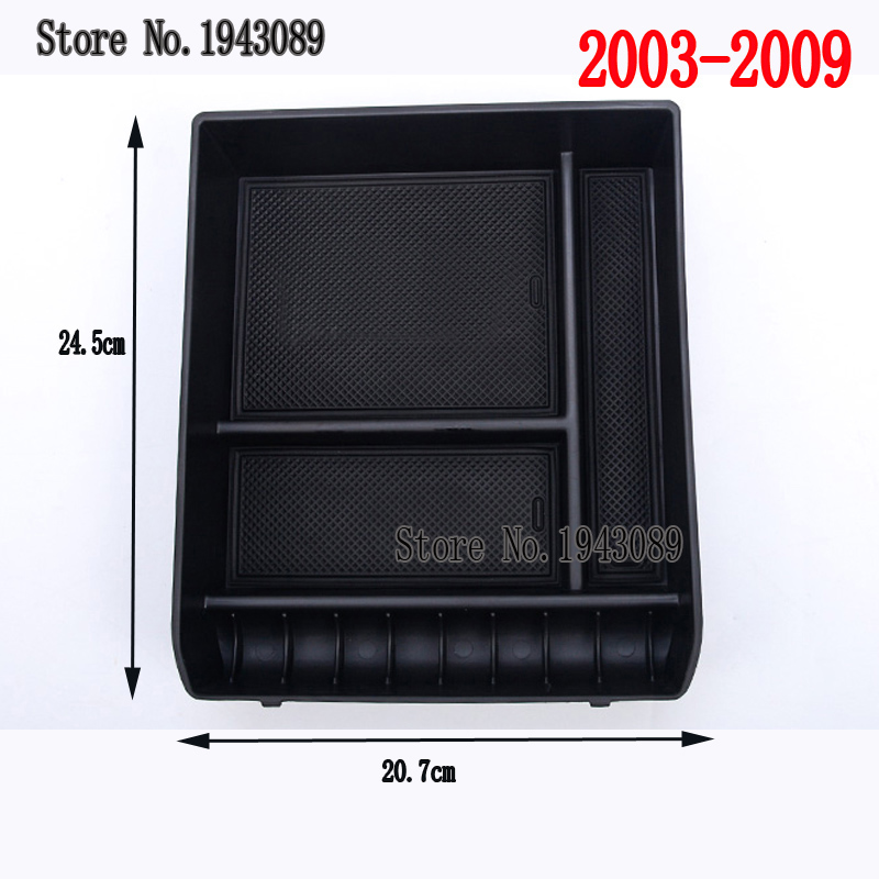 Car Armrest Anti-slip Storage Box Cover Trim for Toyota Land Cruiser Prado 120 <font><b>150</b></font> FJ120 FJ150 <font><b>2010</b></font> 2012 2013 2014 2015 2016 image