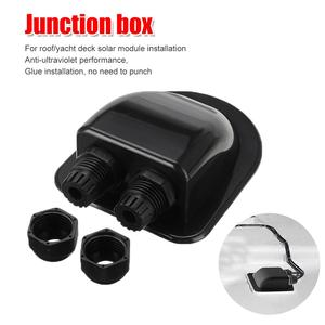 Roof Double Wire Entry Gland Box Solar Panel Cable for Motorhome Caravan Boat RV