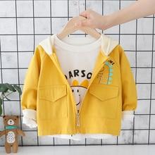 New Child Windbreaker Baby Fashion Printing Animal Cartoon Coats Boy&girls Jacket Autumn Clothes Children Loon Sleeve Outwear