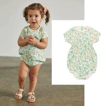 INS Mp Girls Rompers Baby Girl Clothes Kids Clothes Vestidos 2020 Baby Romper Off the Shoulder Deer Rumper 12 Month Girl