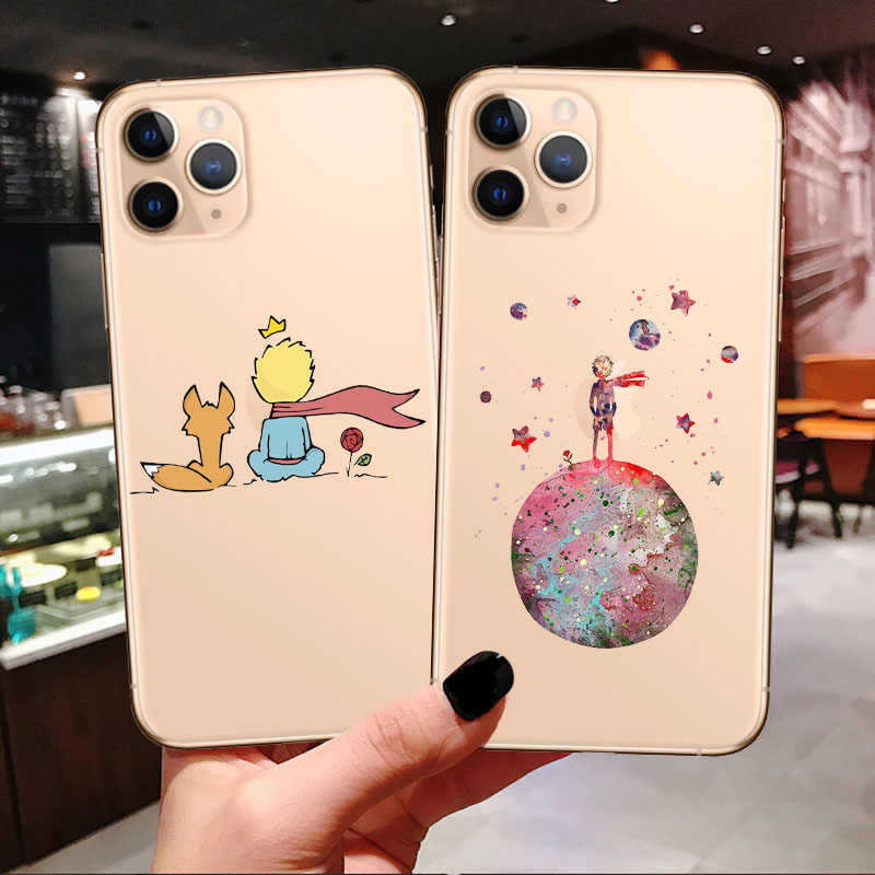 Cartoon Koning De Kleine Prins Aarde Ruimte Fox Rose Soft Case Voor IPhone11 Pro Max 2019 X Xr Xs Max 5 S Se 6 6 S 7 8 Plus Cover