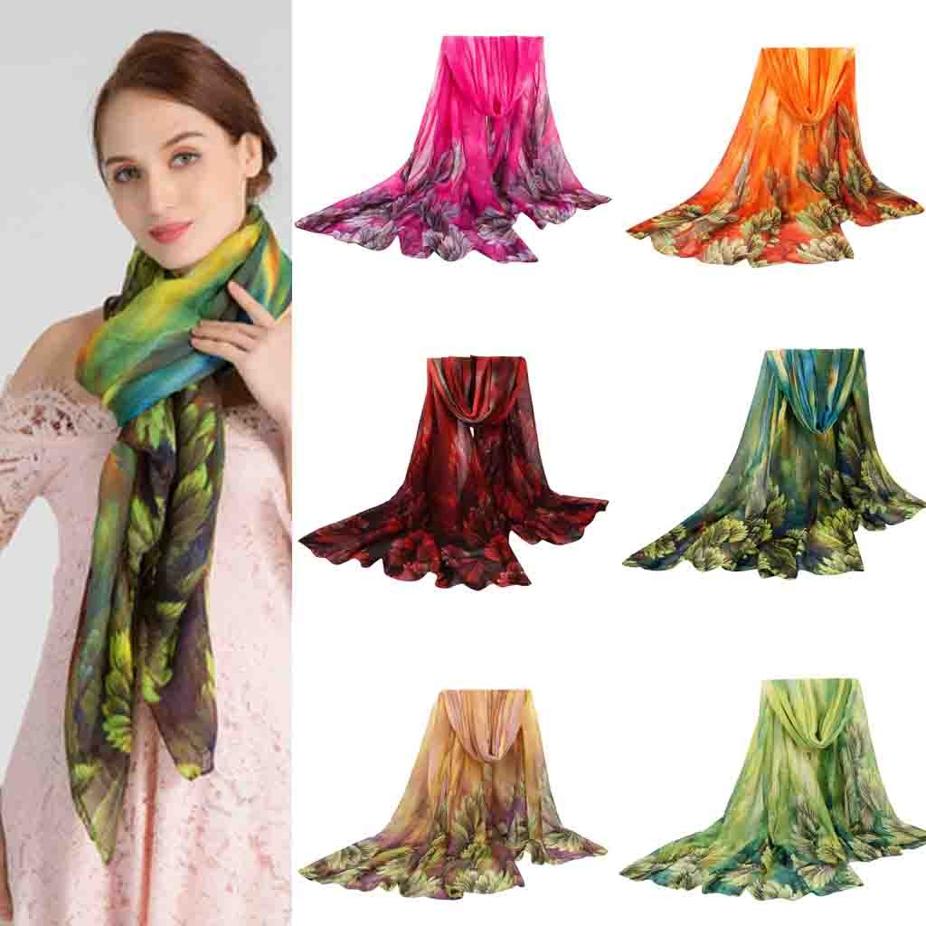 Scarf 2020 Spring Winter New Ladies Warm Scarf Coral Flower Cotton Shawl Casual Soft And Light Beach Scarf Breathable Shawls#11