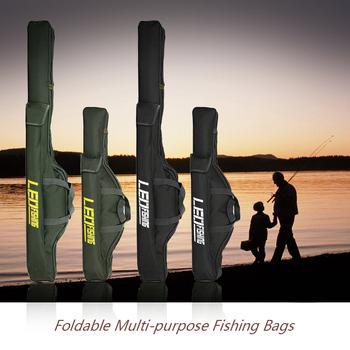 2 warstwy 100cm 150cm składane torby wędkarskie torby wędkarskie torby zapinane na zamek torby torby na sprzęt wędkarski torby do przechowywania sakiewka tanie i dobre opinie