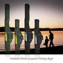 2 warstwy 100cm 150cm składane torby wędkarskie torby wędkarskie torby zapinane na zamek torby torby na sprzęt wędkarski torby do przechowywania sakiewka tanie tanio
