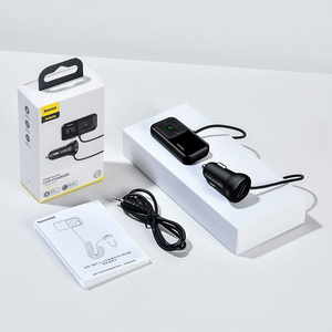 Image 5 - Baseus Auto Bluetooth Fm zender Draadloze MP3 Speler Ontvanger Dual Usb Auto oplader Sigarettenaansteker Voor Iphone Samsung