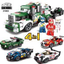 7 serise 4 em 1 cidade carro blocos de construção crianças montagem diy tijolos corrida carro brinquedo compatível com lego marcas brinquedos natal