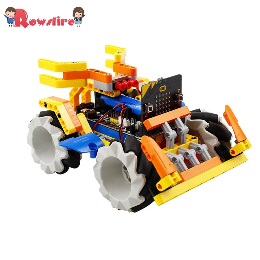 programa robo inteligente bloco de construcao kit mecanum roda robo carro para micro bit nenhum micro
