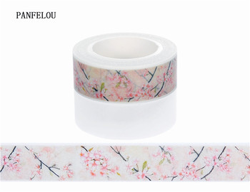 10M*10mm blossom branches Sticker Washi Masking tape Quality good price HOT sell  DIY Scrapbook Embellishments Decoration