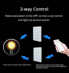 Image 4 - Zemismart US AU WiFi Wall Push Light Switch Alexa Google Home TUYA APP Control One Gang Two Three Gangs Physical Switches