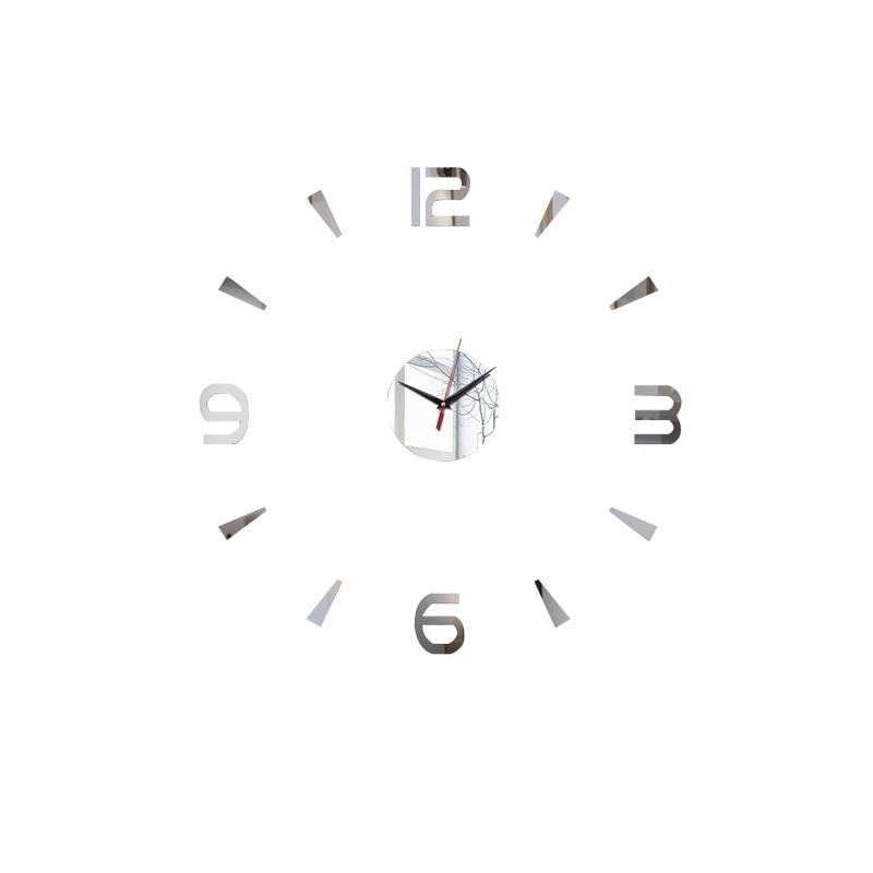 3D Wall Clock Acrylic Mirror Wall Stickers Modern DIY Wall Clocks Home Decor Living Room Quartz Needle reloj de pared 2020 NEW 11