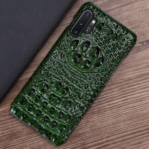 Image 4 - Skórzany futerał na telefon dla Samsung Galaxy S20 Ultra S7 S8 S9 S10 Lite S10e uwaga 8 9 10 20 Plus A20 A50 A70 A51 A71 A8 głowa krokodyla