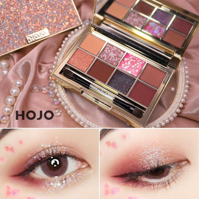 HOJO Shiny Diamond Nude EyeShadow Makeup Box Does Matte Shimmer Waterproof Pigment Long Lasting Glitter Eyeshadow