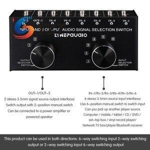 Image 3 - TZT переключатель аудиовхода, переключатель аудиовхода, переключатель сигнала, поддержка 6 в 2 OUT и 2 в 6 OUT 3,5 мм порты