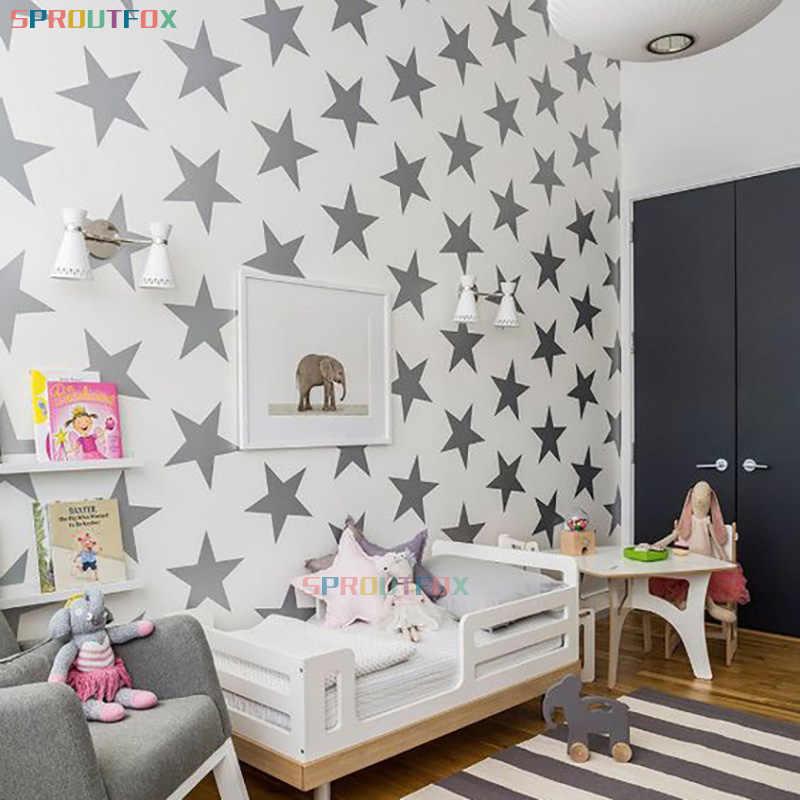 الكرتون نجوم كبيرة ملصقات جدار الشارات الملونة للأطفال غرفة الاطفال المطبخ الثلاجة ديكور المنزل ملصقات الحائط الفن