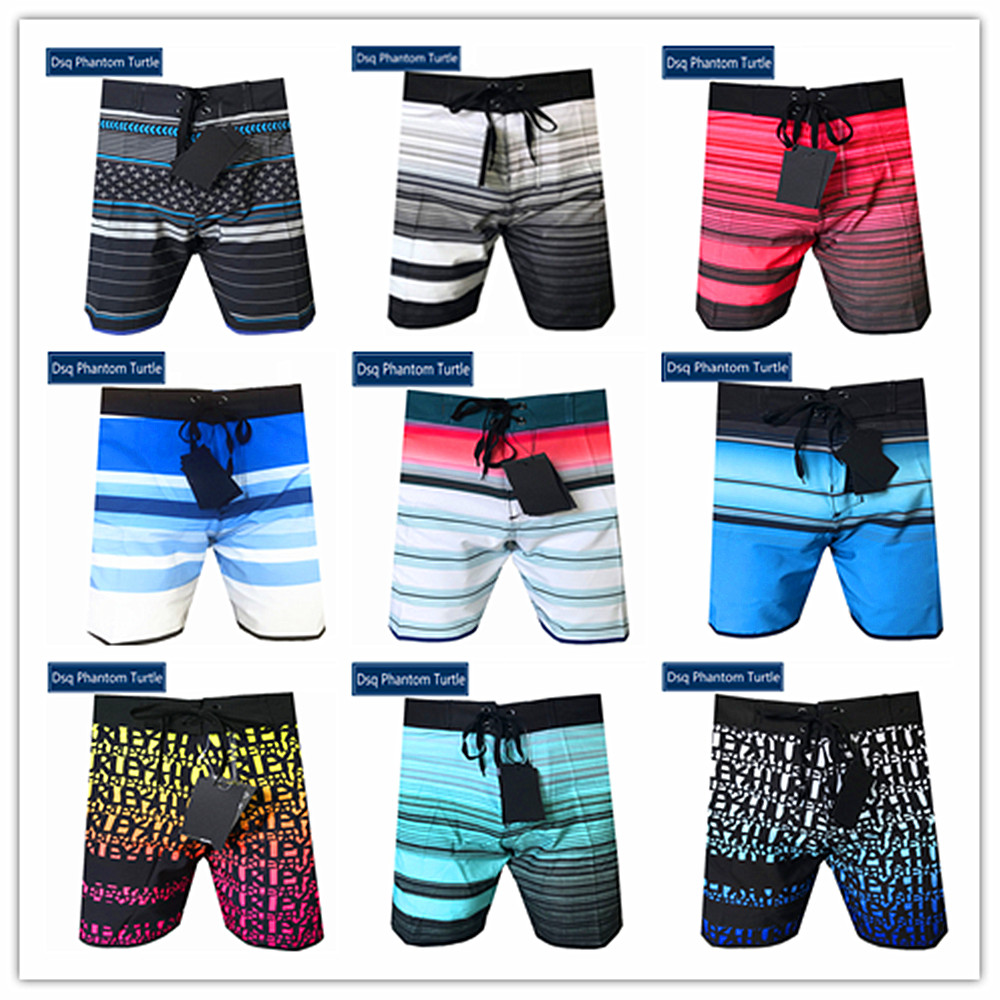2020 New Arrivals Brand Dsq Phantom Turtle Beach Board   Shorts   Men Elastic Spandex Swimwear Bermuda Boardshorts 100% Quick Dry