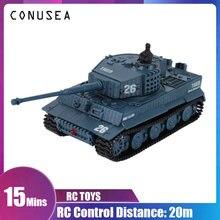 Conusea 1/72 весы Радиоуправляемый мини танк модель военные