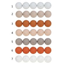 15mm 20pcs/lot Silicone Loose Beads Safe Teether Round Baby