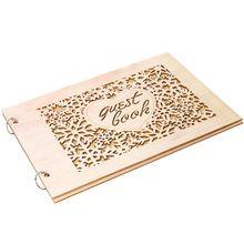 Персонализированный гость книга сердце Снежинка деревянные гостевые книги подписи сообщение скрапбук деревенский Свадебные подарки