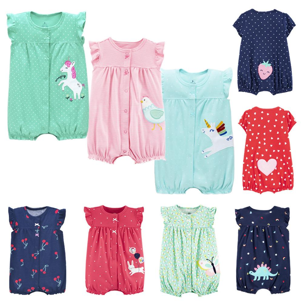 2020 Brand Oramgemom Cotton Short Rompers Infant Girl Clothes Roupas Menina Baby Girl Clothes Nowbron Jumpsuits Baby Clothing