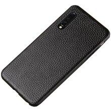 Caso de telefone de couro de luxo para xiaomi mi 8 lite a2 a1 9t 9 se caso à prova de choque de couro real capa traseira para redmi nota 7 k20
