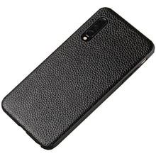 יוקרה עור טלפון מקרה עבור xiaomi mi 8 לייט A2 A1 9T 9 SE מקרה עמיד הלם אמיתי עור חזרה כיסוי עבור redmi הערה 7 K20 מקרה