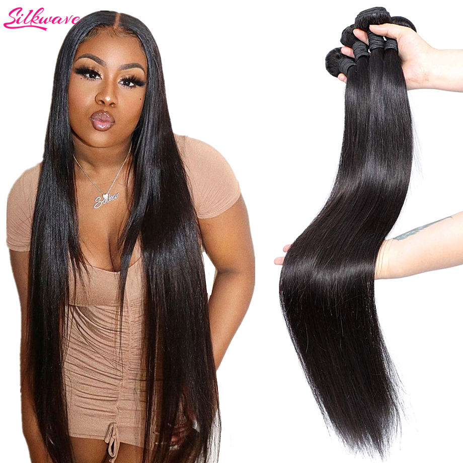 Перуанские прямые человеческие волосы пряди 40 дюймов кости прямые волосы девственные натуральные волосы для наращивания, вплетаемые пряди...