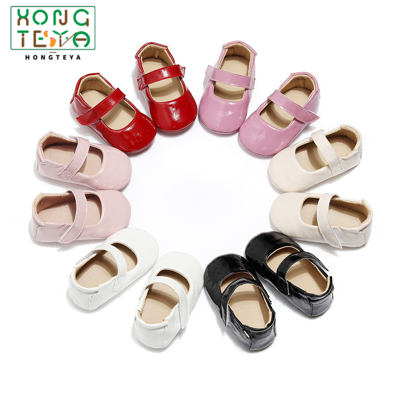 Baby Shoes Rubber Sole Casual Princess Girls Baby Kids Pu Leather Solid Crib Babe Infant Toddler Cute Ballet Mary Jane Shoe