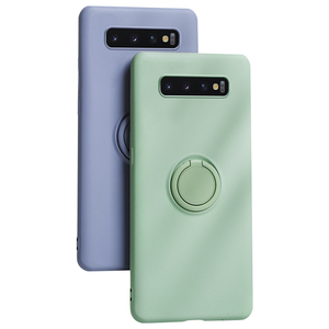Soft Silicone Case For Samsung Galaxy S10 E S9 S8 S20 Plus Ultra Note 10 Pro S10E Shockproof Ring Stand Holder Cover Luxury etui(China)